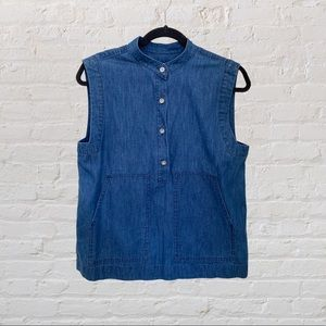 Marc by Marc Jacobs Sleeveless Chambray Top Sz 4